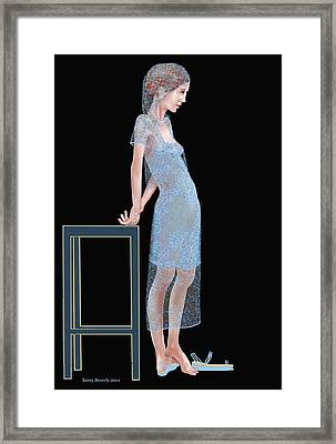 The Blue Outfit Framed Print