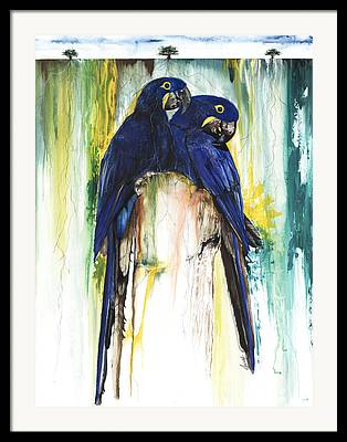 African American ist Mixed Media Framed Prints