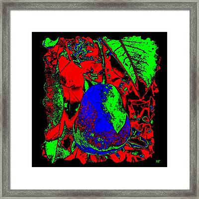 The Blue Pear Framed Print by Will Borden