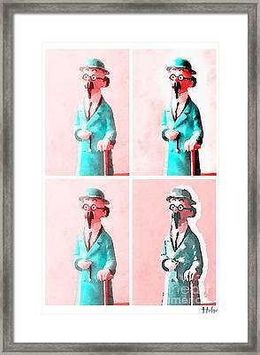 The Blue Professor Framed Print