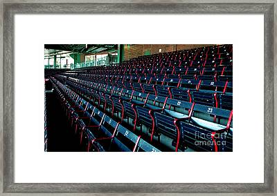 The Blue Seats Framed Print