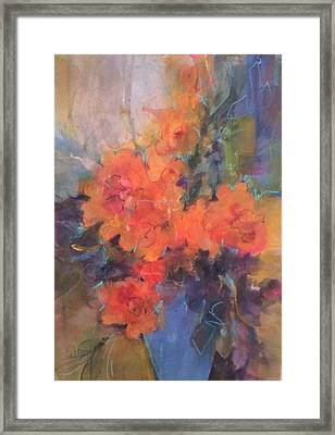 The Blue Vase Framed Print