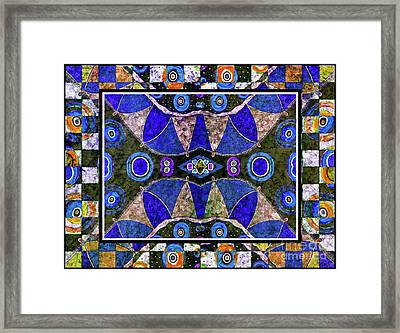The Blue Vibrations Framed Print