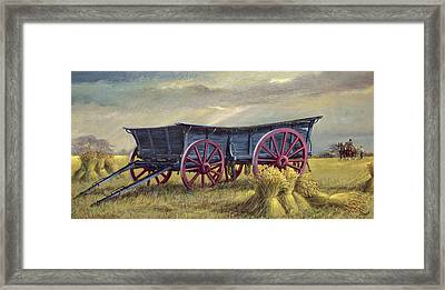 The Blue Wagon Framed Print by Dudley Pout