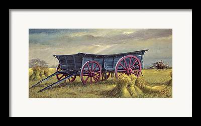 Corn Wagon Framed Prints