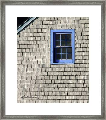 The Blue Window Framed Print by Michelle Wiarda