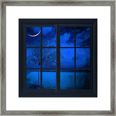 The Blue Window Framed Print