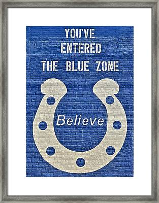 The Blue Zone Framed Print