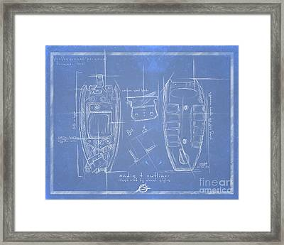 The Blueprint T Outliner Framed Print by The Styles Gallery