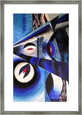 Framed Print featuring the painting The Blues by Anna-maria Dickinson