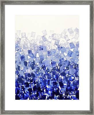 The Blues Blocks Framed Print