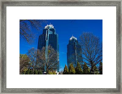 The Blues King And Queen Buildings Concourse Framed Print by Reid Callaway