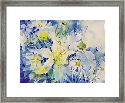 The-blues Framed Print by Nancy Newman