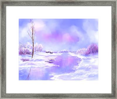 The Blues Of Winter Framed Print