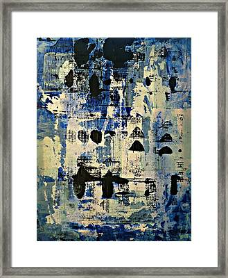 The Blues Abstract Framed Print