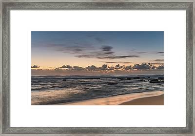 The Blues - Sunrise Seascape  Framed Print