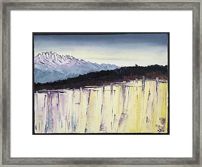 The Bluff And The Mountains Framed Print by Carolyn Doe