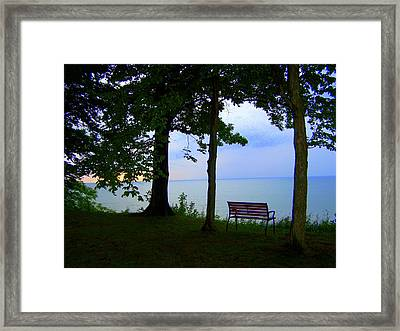 The Bluffs Bench Framed Print