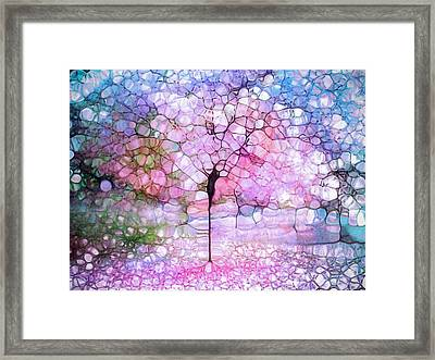 The Blushing Tree In Bloom Framed Print