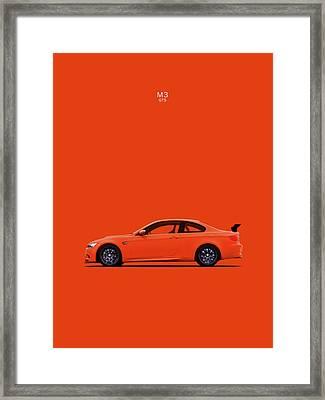The Bmw M3 Gts Framed Print by Mark Rogan