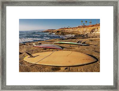 The Boards Framed Print by Peter Tellone