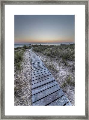 The Boardwalk In Elberta Framed Print by Twenty Two North Photography