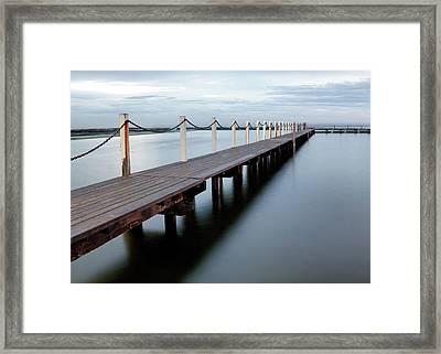 The Boardwalk Framed Print by Nicholas Blackwell