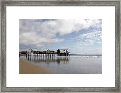The Boardwalk Framed Print by Roxanne Marshal