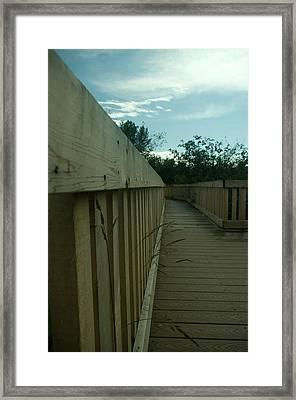 The Boardwalk Framed Print by Travis Crockart