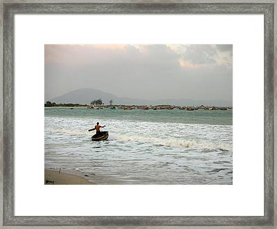 The Boat Driver Framed Print