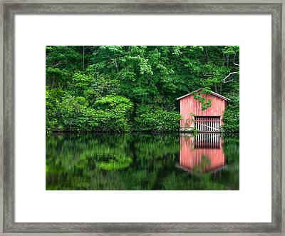 The Boat House At Desoto Falls Framed Print by Phillip Burrow