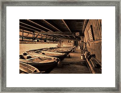 Framed Print featuring the photograph The Boat House  by Scott Carruthers