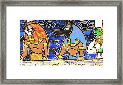 The Boat Of Ausar Passing Through The Underworld Framed Print