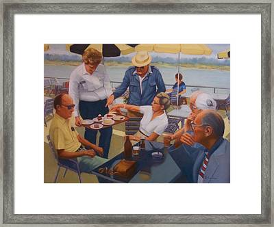 The Boat Party Framed Print by Diane Caudle