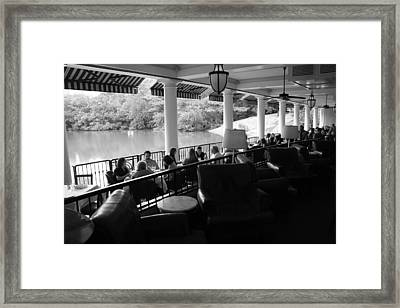 The Boathouse Central Park Framed Print by Christopher Kirby