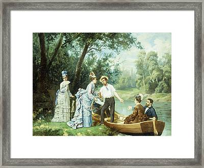The Boating Party Framed Print by Antonio Garcia Mencia