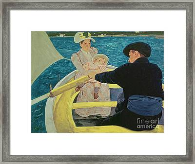 The Boating Party Framed Print by Mary Stevenson Cassatt