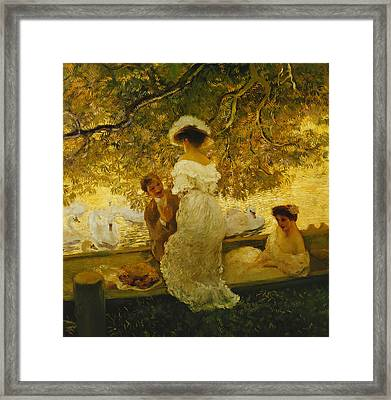 The Boating Trip Framed Print by Gaston de Latouche