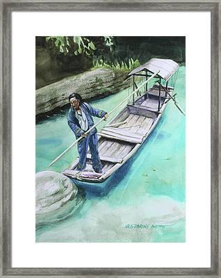 The Boatman Framed Print by Kris Parins