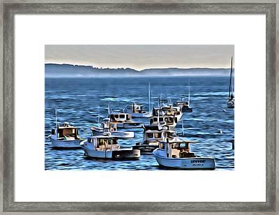 The Boats At Owls Head Framed Print by  Judy Bernier