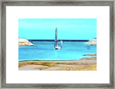 The Boats Come In Framed Print by Sharon Lisa Clarke