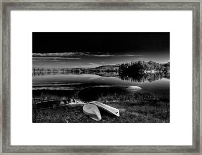 The Boats On Seventh Lake Framed Print by David Patterson