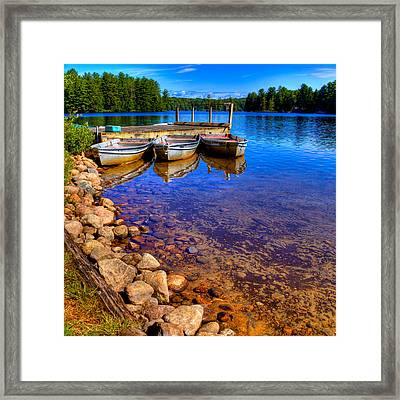 The Boats On White Lake Framed Print by David Patterson