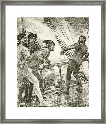 The Boatswain Framed Print by Henry Scott Tuke