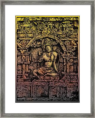 The Bodhisattva Samantabhadra Borobudur Java Framed Print by Larry Butterworth