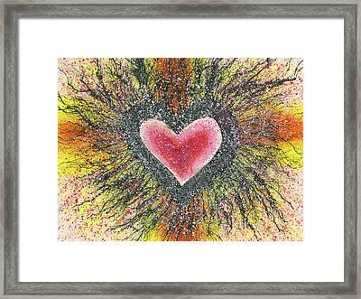 The Body Of Light #517 Framed Print by Rainbow Artist Orlando L aka Kevin Orlando Lau