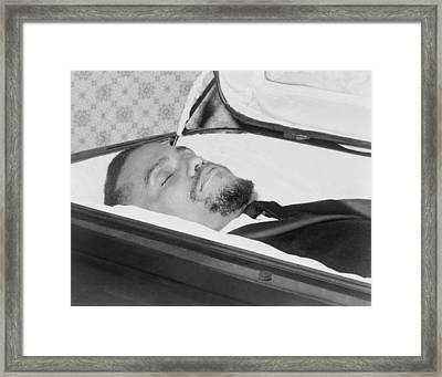 The Body Of Malcolm X, Slain Negro Framed Print