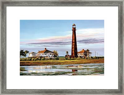 The Bolivar Lighthouse Framed Print