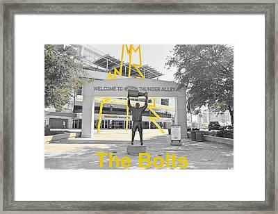 The Bolts Framed Print