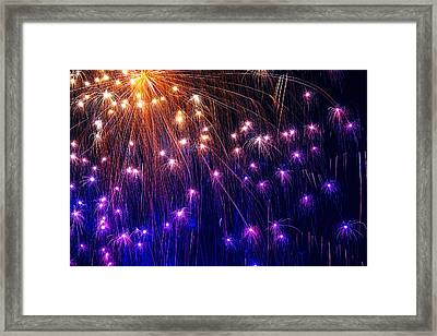 The Bombs Bursting In Air Framed Print by Gary Holmes